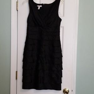 Black Ruffled Party Dress